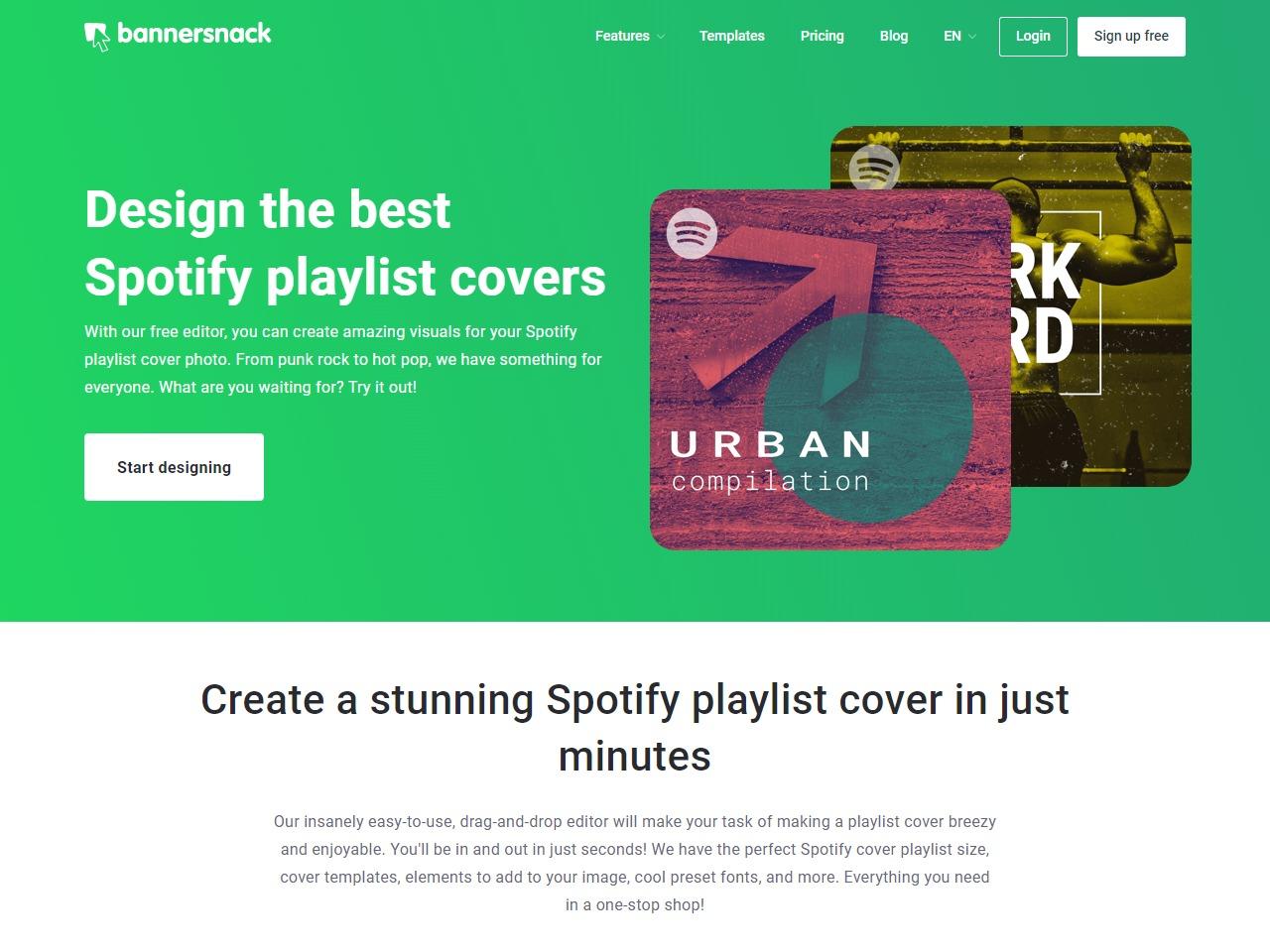 Bannersnack Playlist Cover Design Buzzsonic